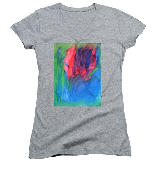 4-13-2013 Women's V-Neck T-Shirt (Junior Cut) by Shawn Marlow