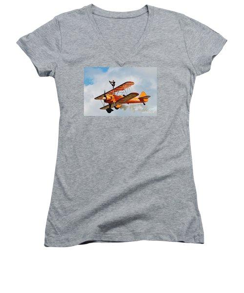 Breitling Wingwalkers Team Women's V-Neck T-Shirt