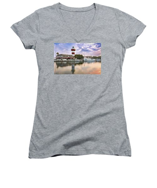 Lighthouse On Hilton Head Island Women's V-Neck (Athletic Fit)