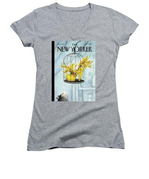 New Yorker September 1st, 2008 Women's V-Neck