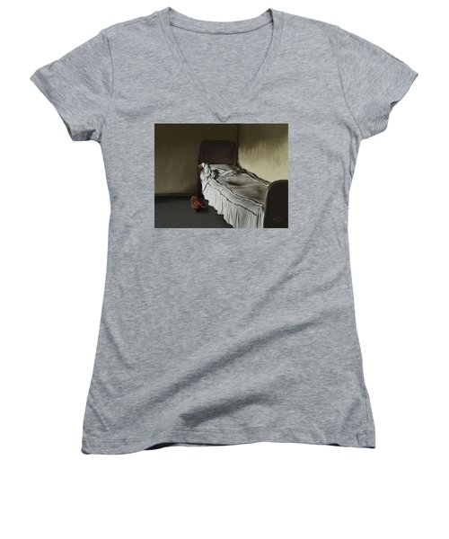 6. Where Is My Egg? Women's V-Neck (Athletic Fit)