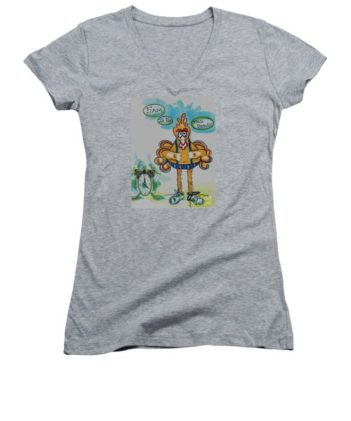 5am Is For The Birds Women's V-Neck T-Shirt