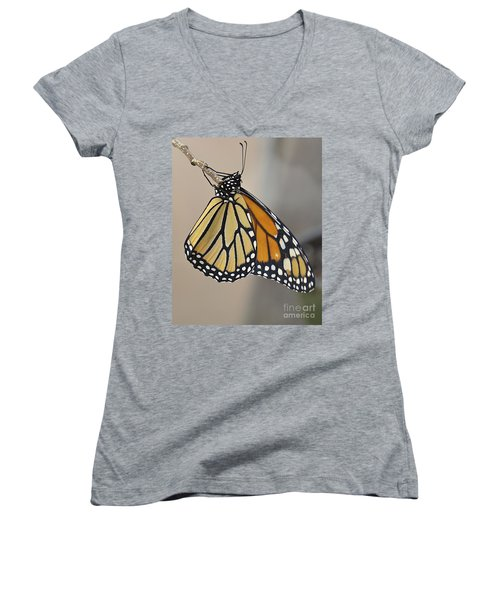#6 Has Left The Building Women's V-Neck T-Shirt