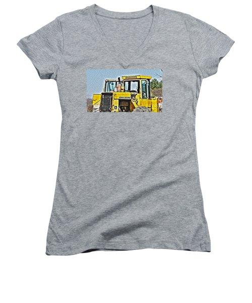 644e - Automotive Recycling Women's V-Neck T-Shirt