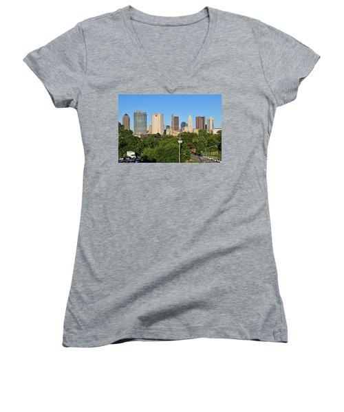 Columbus Ohio Skyline Photo Women's V-Neck