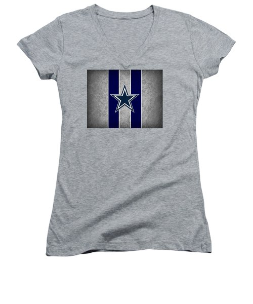 Dallas Cowboys Women's V-Neck (Athletic Fit)