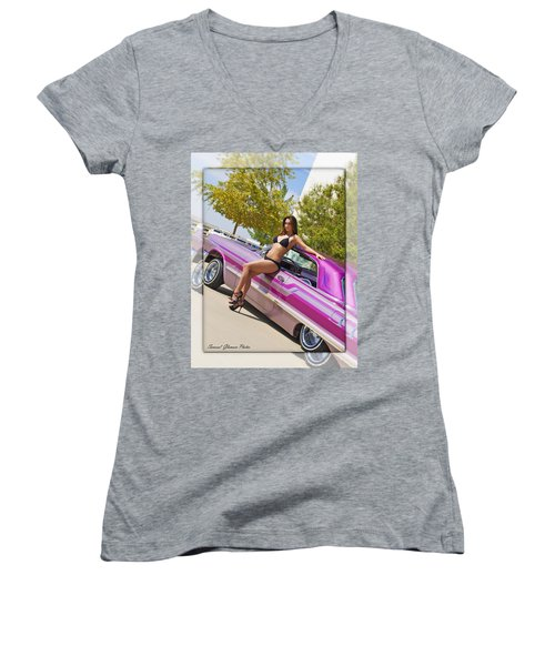 Lowrider Women's V-Neck T-Shirt