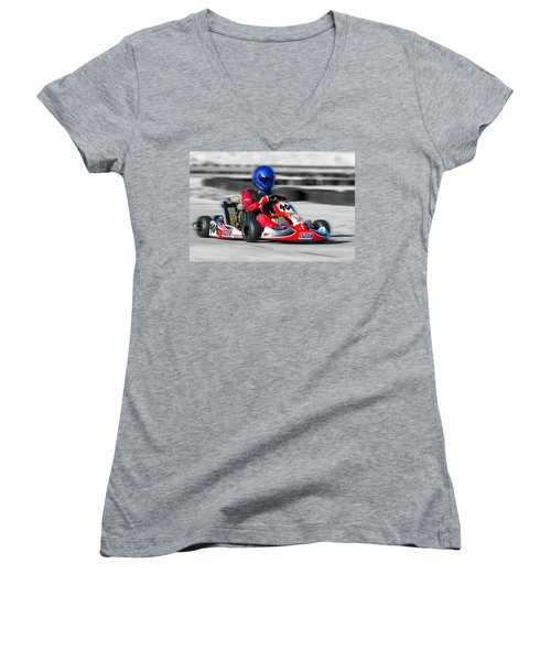 Racing Go Kart Women's V-Neck