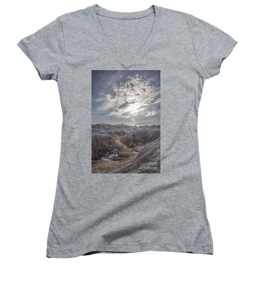 A Badlands Afternoon Women's V-Neck T-Shirt