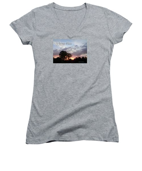 A Better Place Women's V-Neck T-Shirt