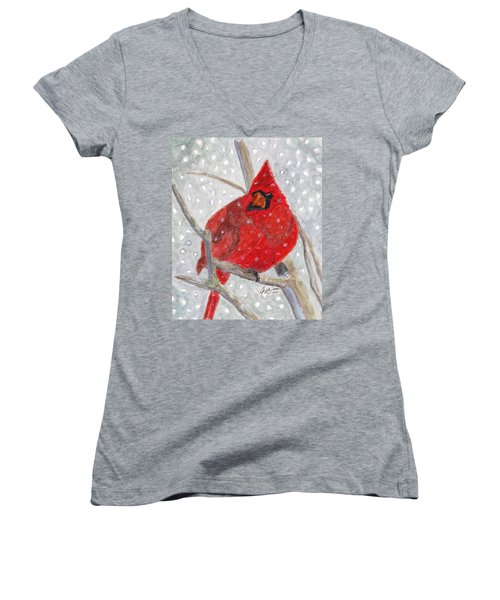 A Cardinal Winter Women's V-Neck