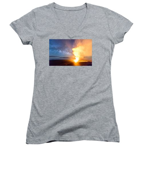 A Cosmic Fire Women's V-Neck (Athletic Fit)