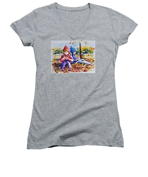 A Crop Of Good Friends Women's V-Neck (Athletic Fit)