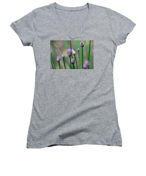 A Culinary Necessity Women's V-Neck T-Shirt (Junior Cut) by Debbie Oppermann
