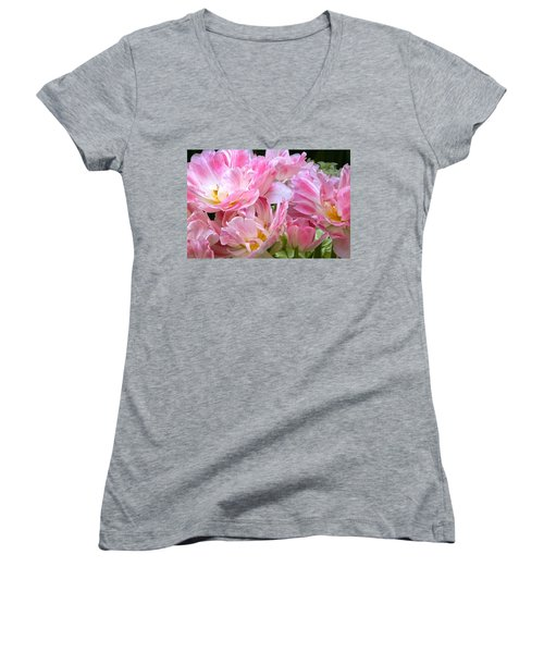 A Crowd Of Tulips Women's V-Neck (Athletic Fit)