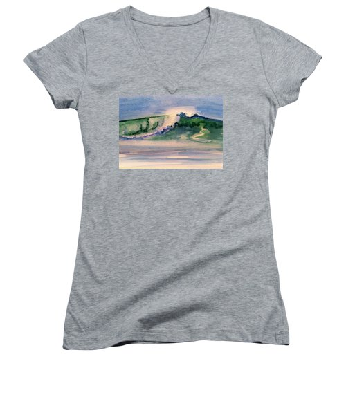 A Day At The Beach 3 Women's V-Neck T-Shirt