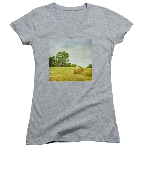 A Day At The Farm Women's V-Neck
