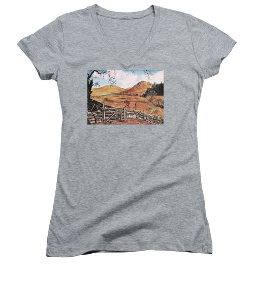 A Day In The Country Women's V-Neck