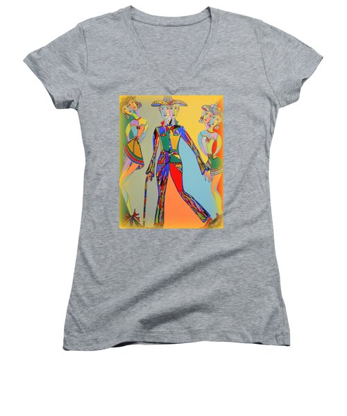 Men's Fantasy Women's V-Neck T-Shirt (Junior Cut) by Marie Schwarzer