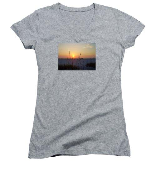 A Florida Sunset Women's V-Neck T-Shirt (Junior Cut)