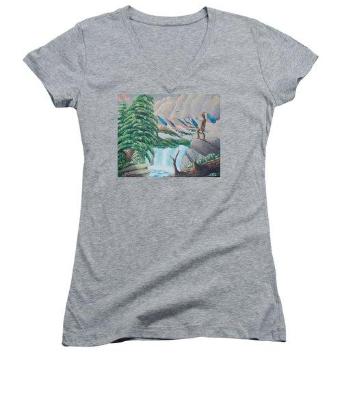 A Free Place Women's V-Neck T-Shirt