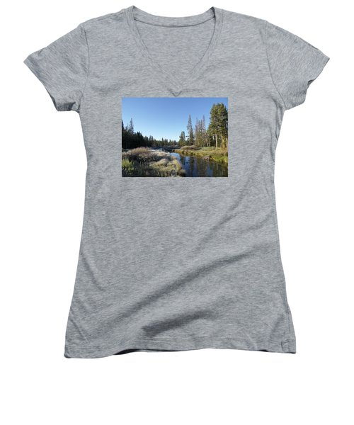 A Frosty Morning Along Obsidian Creek Women's V-Neck