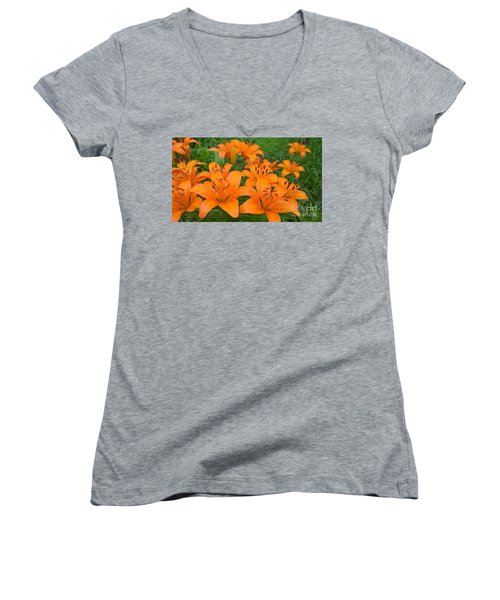A Garden Full Of Lilies Women's V-Neck (Athletic Fit)