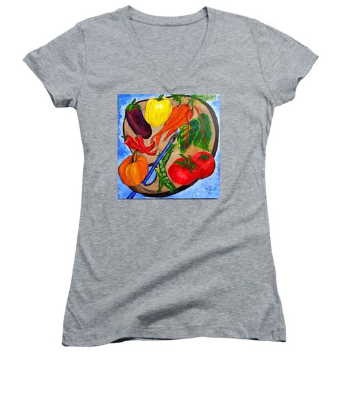 A Gardeners Palette Women's V-Neck (Athletic Fit)