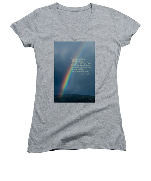 A Gift From God Women's V-Neck T-Shirt (Junior Cut) by Mick Anderson