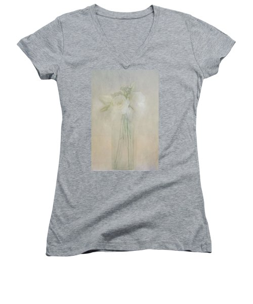 A Glimpse Of Roses Women's V-Neck