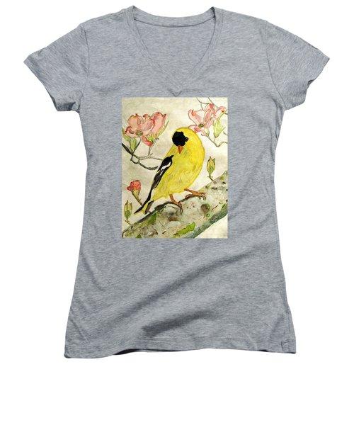 A Goldfinch Spring Women's V-Neck