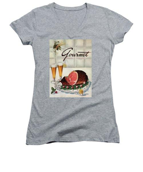 A Gourmet Cover Of Ham Women's V-Neck