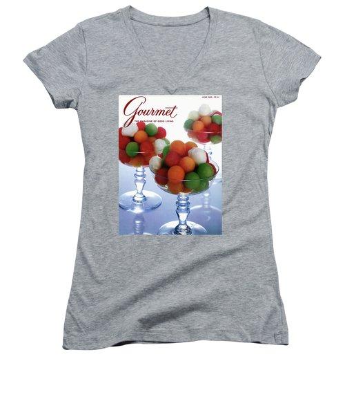 A Gourmet Cover Of Melon Balls Women's V-Neck