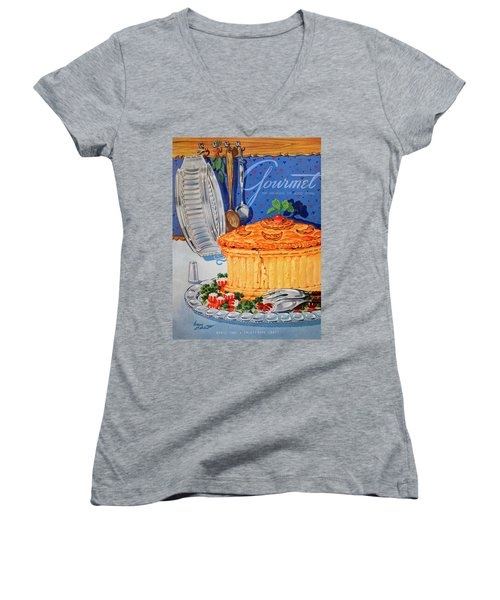 A Gourmet Cover Of Pate En Croute Women's V-Neck