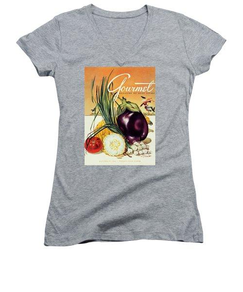 A Gourmet Cover Of Vegetables Women's V-Neck