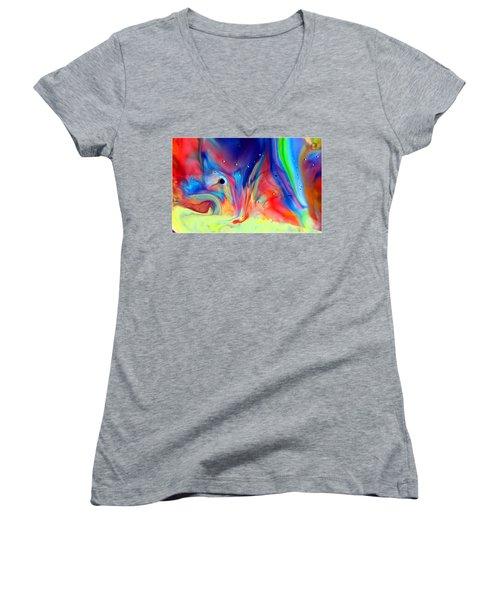 A Higher Frequency Women's V-Neck T-Shirt