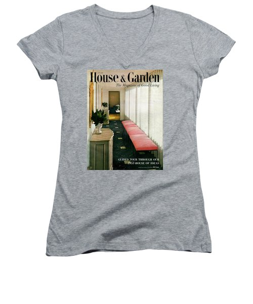 A House And Garden Cover Of A Hallway Women's V-Neck