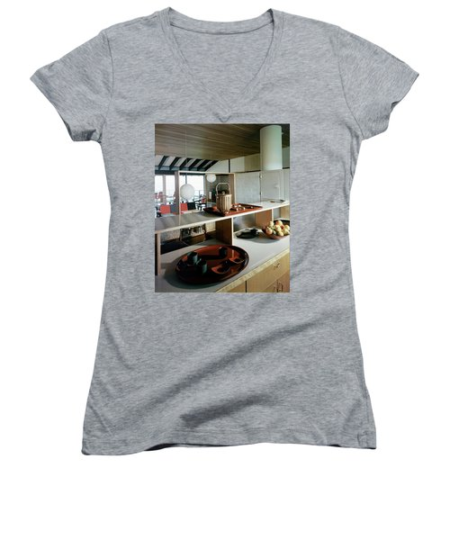 A House At Quantuck Bay Women's V-Neck