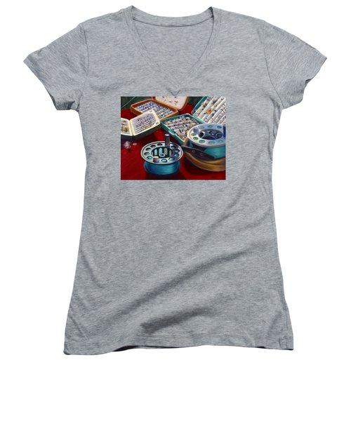A Howard Runs Through It Women's V-Neck T-Shirt