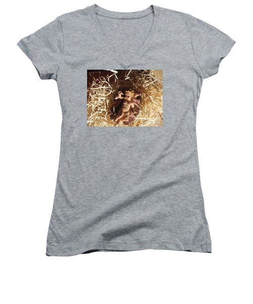 A King Is Born Women's V-Neck (Athletic Fit)