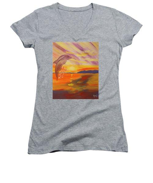 A Leap Of Joy Women's V-Neck T-Shirt