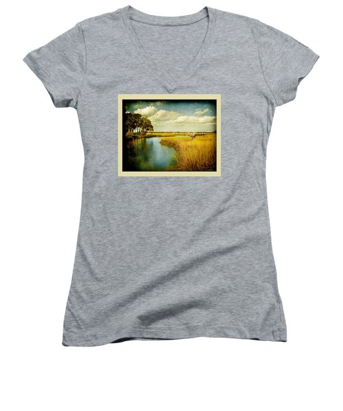 A Melancholy Afternoon Women's V-Neck