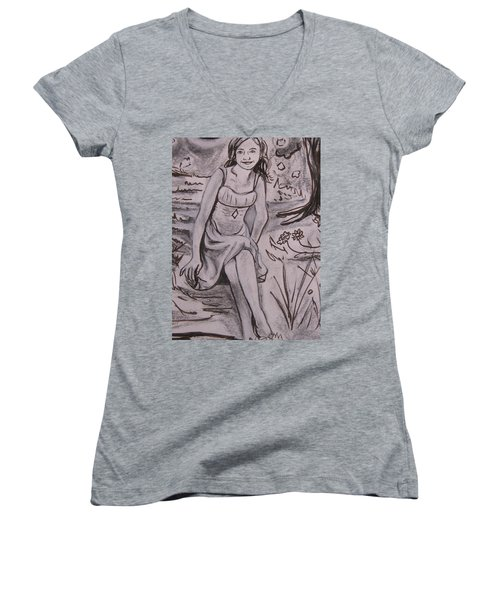 A Midsummer Night's Dream Play Women's V-Neck (Athletic Fit)