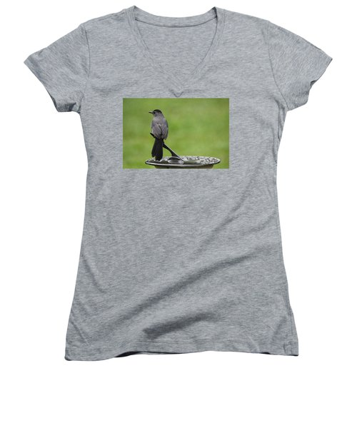 Women's V-Neck T-Shirt (Junior Cut) featuring the photograph A Moment In Time by Trina  Ansel