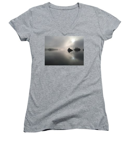 A Moody Morning Women's V-Neck T-Shirt