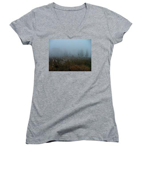 A Morning Fog Women's V-Neck T-Shirt