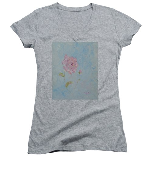 A Mother's Love Women's V-Neck T-Shirt (Junior Cut) by Judith Rhue