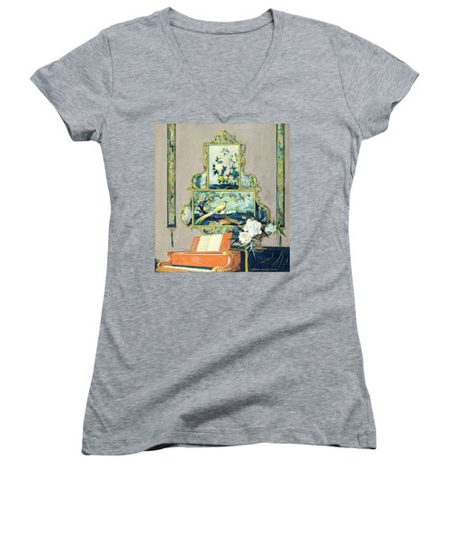 A Painting Of A House Interior Women's V-Neck
