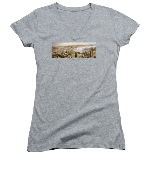 A Panoramic View Of London Women's V-Neck T-Shirt