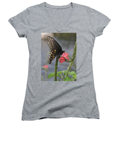 A Pause In Flight Women's V-Neck (Athletic Fit)